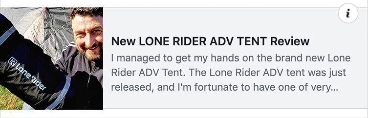 Lone Rider ADV tent graphic