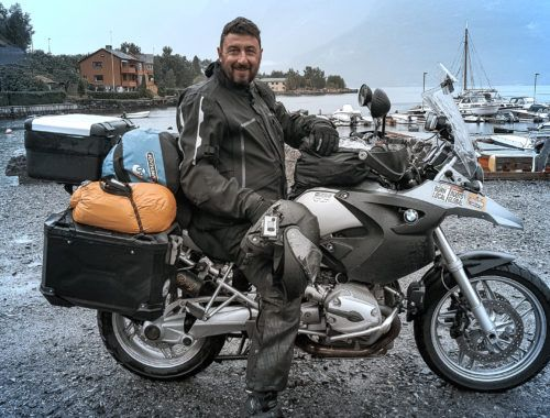 Stephan with his BMW Enduroguard Suite